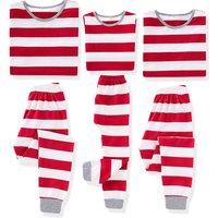 Comfy Red Stripe Family Matching Pajamas Set