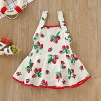 Baby Girl Strawberry Pattern BacklessDress