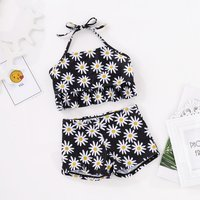 Baby / Girl Sunflower Patterned Swim Halter top and Shorts Set