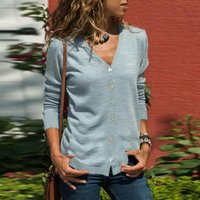 Stylish Button Long-sleeve Cardigan