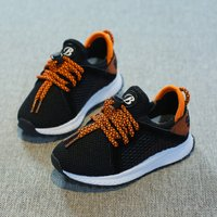 Breathable Color-blocking Lace-up Mesh Shoes for Kid