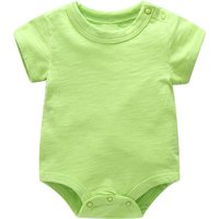 Comfy Solid Bodysuit in Green for Baby Boy