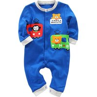Baby Boy's Bear Print Long Sleeve Jumpsuit