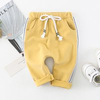 Casual Side Stripe Drawstring Pants for Baby