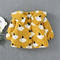 Super Cute Cloud Patterned Long-sleeve Coat for Baby