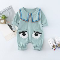 Baby's Sheep Polo Collar Jumpsuit