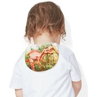 4 Pcs Dinosaur Print  Six-layered Mat Towel Bibs for Baby