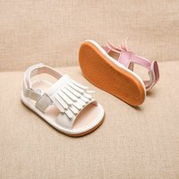 Stylish Solid Tassel Velcro Shoes for Toddler Girl