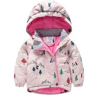 Fashionable Animals Printed Hooded Coat for Girl