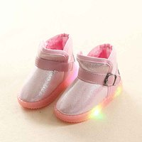Warm LED Velcro Fleece Lining Boots for Toddler/Kid