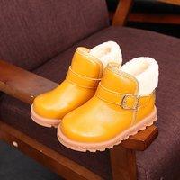Kids Comfy Fleece-lined Snow Boots