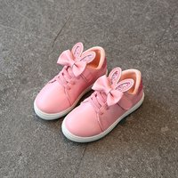Sweet Bow Decor Glitter Leather Sneakers for Toddler Girl and Girl