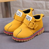 Comfy Solid Lether Boots for Toddler and Kid