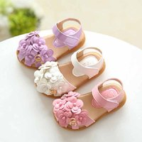 Charming Floral Decor Sandals for Girls