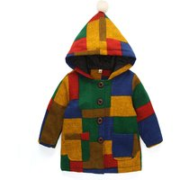 Fashionable Color-blocking Hooded Coat for Baby and Toddler Girl