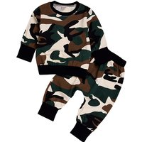 2-piece Cute Camouflage Clothing Tee and Pants Set for Baby and Toddlers