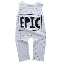 Cool EPIC Print Sleeveless Jumpsuit for Baby