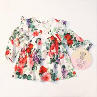 Pretty Floral Long-sleeve Dress for Baby and Toddler
