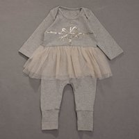 Sequin Design Long-sleeve Jumpsuit for Baby