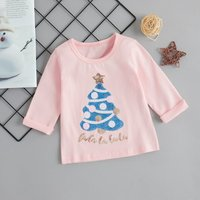 Sequined Christmas Tree Long-sleeve Tee for Baby and Toddler Baby