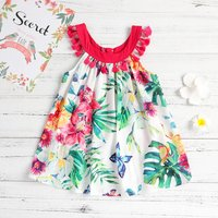 Stunning Allover Floral Boho Tassel Sleeveless Dress for Girls