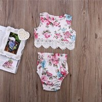 Beautiful Floral Top and Shorts Set for Baby and Toddler Girl