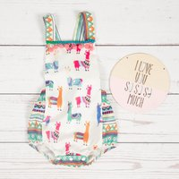 Stylish Horse Pattern Geometric Strap Bodysuit for Baby Girl