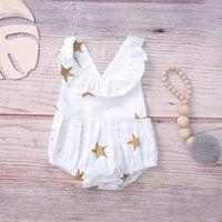 Sweet Star Pattern Romper for Babies