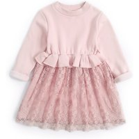 Warm Lace Fleece Lining Dress for Girl