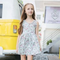 Lovely Ruffled Sleeves Floral Dress for Girls