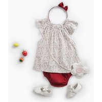 Cute Sleeveless Floral Top and PP Shorts Set for Baby Girl