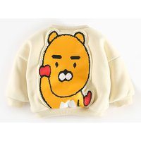Baby Boy's Cute Animal Appliques Fleece-lined Pullover
