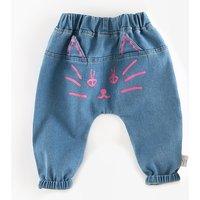 Cute Cat Print PP Pants for Baby Girl