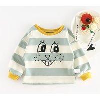 Fun Simle Print Striped Top for Baby