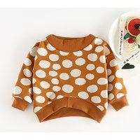 Comfy Polka Dotted Knit Pullover for Baby
