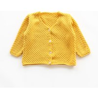 Trendy Solid Knit Cardigan for Toddler Girl