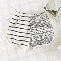 Stylish Striped Geo / Letter Print Sporty Shorts for Baby and Toddler Boy