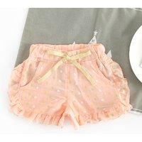 Pretty Ruffled Circle Print Shorts for Baby Girl