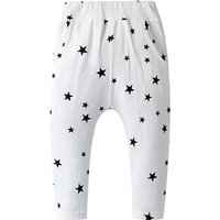 Cute Star Print Solid Cotton PP Pants for Baby