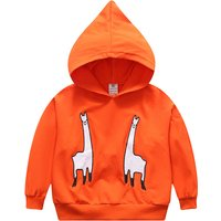 Lovely Appliqued Alpaca Hooded Long-sleeve Pullover for Baby