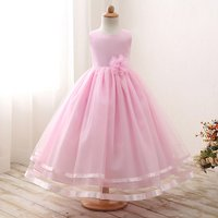 Beautiful Solid Flower Design Party Dress