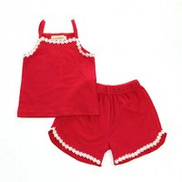Fresh Lace Tank Top and Shorts Set for Baby and Toddler Girl