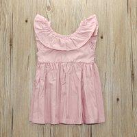 Pretty Ruffled Sleeveless Dress for Baby Girl