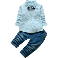 Cool Dotted Shirt and Pants Set for Baby Boy