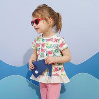 Pretty Butterfly Pattern Ruffle Hem Top for Toddler Girl and Girl