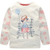 Pretty Cartoon Print Long-sleeve Top for Toddler Girl and Girl
