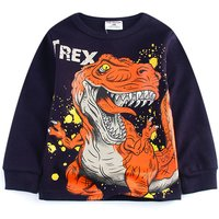 Unique Dino Print Long-sleeve Tee for Toddler Boy and Boy