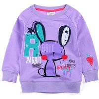 Cute Rabbit Print Long-sleeve T-shirt for Toddler Girl and Girl