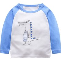Lovely Letter Print Long-sleeve Top for Baby