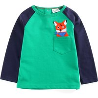Trendy Fox Appliqued Long-sleeve Top for Baby and Kid